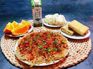 香煎金针菇,一顿丰盛又营养的早餐会给你带来好运👍