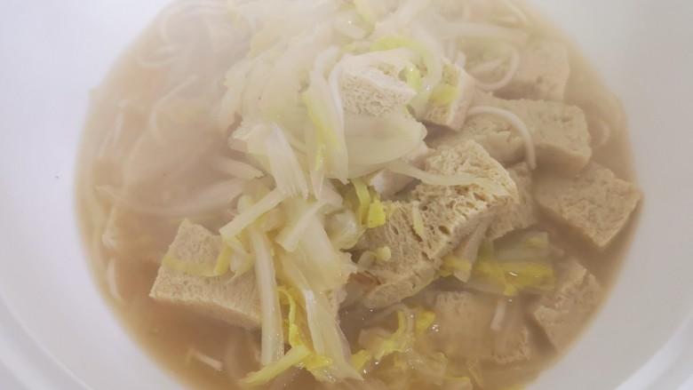白菜炖粉条冻豆腐