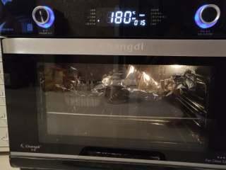 树莓核桃挞,空气烤180度烤15分钟