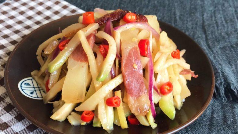 美味下饭菜  腊肉炒榨菜