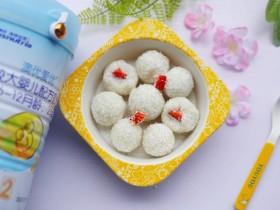 酸酸甜甜的奶香草莓🍓山药球