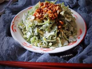 蒸芹菜叶,不错吧,健康又营养!
