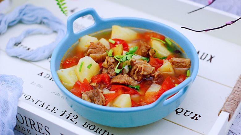 番茄牛肉炖土豆,成品一