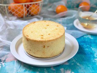 橙香戚风蛋糕,成品图