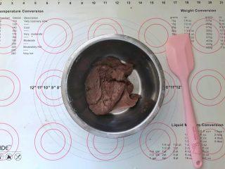 不消泡的可可戚风蛋糕,搅拌均匀。