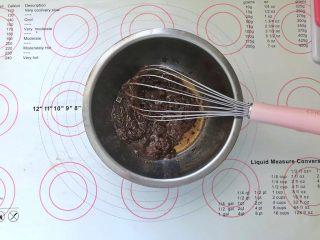 不消泡的可可戚风蛋糕,倒入冰酸奶可以快速降温,搅拌均匀。