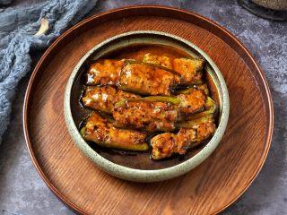 香辣可口的青椒酿肉,成品图