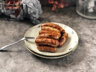 黑胡椒脆皮玉米香肠,成品图