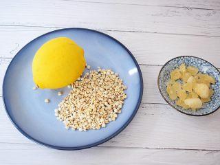 柠檬薏米水,准备好材料