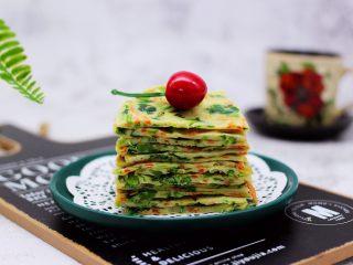 鹅蛋菠菜早餐饼,营养丰富又健康。