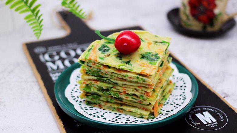 鹅蛋菠菜早餐饼