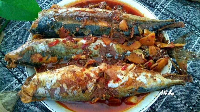 香辣鲅鱼,成品图