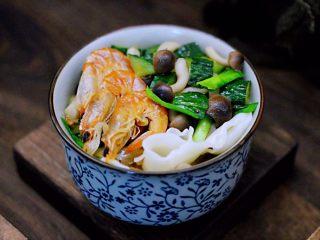 时蔬海虾刀削面,好吃到没有朋友。