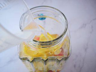 水果冷泡茶,加入纯净水