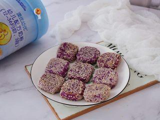 奶香紫薯饼,成品图