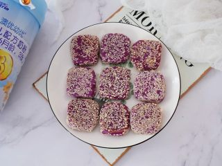 奶香紫薯饼,图二
