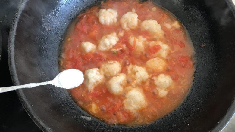 茄汁鱼丸,加入适量的盐调味 即可出锅