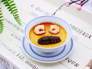 海参虾仁鸡蛋羹,成品一