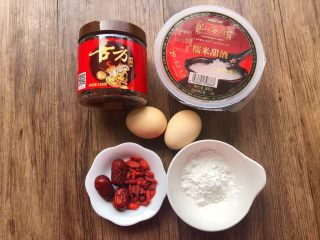 红糖酒酿鸡蛋,食材合影