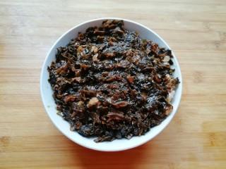 金牌天津扣肉,填入煮好的梅干菜。