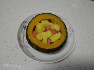 板栗南瓜盅,铛铛挡~开吃了。