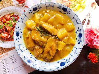芽芽私房菜~咖喱鸡翅中,成品图