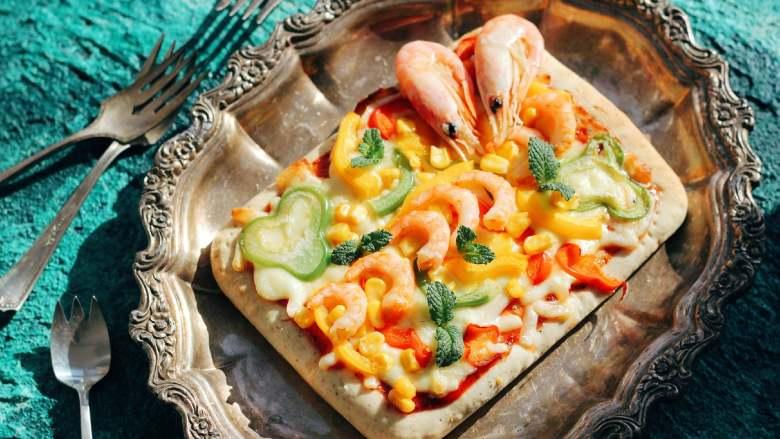 北极甜虾披萨