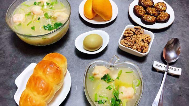 虾滑冬瓜针菇汤,开开心心快快乐乐的吃好每一餐