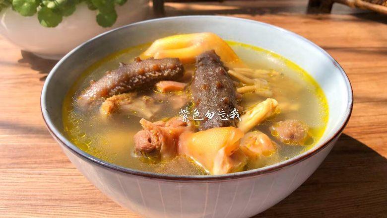 海参番鸭汤