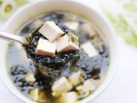 超补钙的紫菜豆腐汤