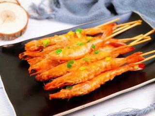 蒜蓉串串虾,成品图
