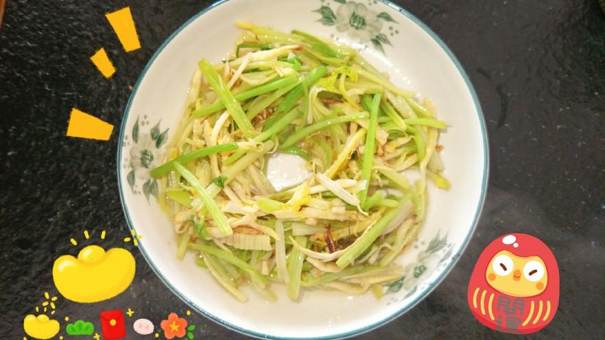 开胃小炒☞芹菜炒笋丝