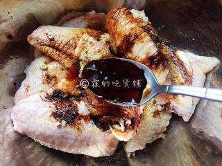 香烤鸡翅,蚝油。