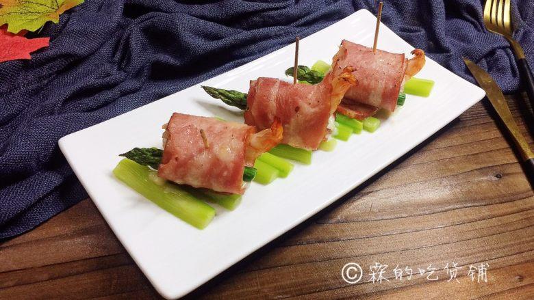 培根芝士烤虾卷