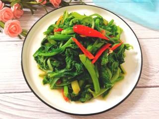 辣炒菜苔,成品图