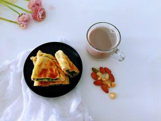 韭菜盒子,搭配早餐很完美。