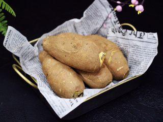 香甜软糯的烤红薯,成品一
