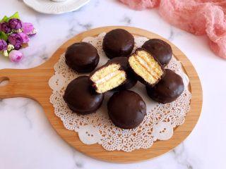 迷你巧克力夹心派,成品