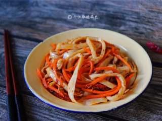 手撕杏鲍菇,它的味道很独特,明明是素食总是让我感觉在吃荤菜。