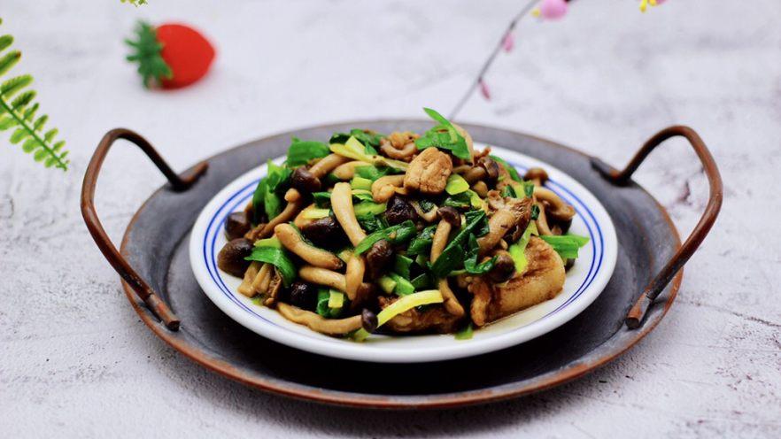 蟹味菇爆花肉
