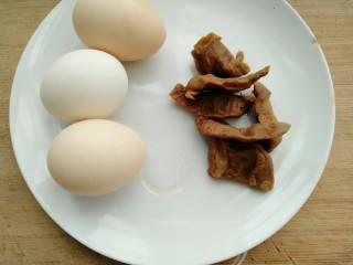 菜脯蛋卷,准备以下材料