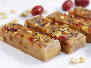 红豆薏仁茯苓年糕,成品图。