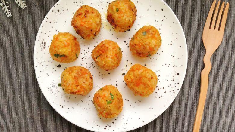 蔬菜肉松饭团