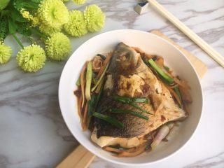 头菜炆鲩鱼,完成,上碟