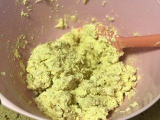 淡奶油花生曲奇,翻拌好的面糊是稍稍湿润但是成型的。