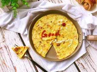 什锦煎蛋饼,尝一口,美味极了。