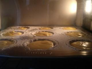 柠檬玛德琳蛋糕-入门级蛋糕,烤箱170°预热。上下火烤20分钟。