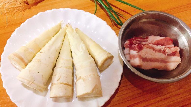 蚝油炒甜笋+春天的味道,食材准备