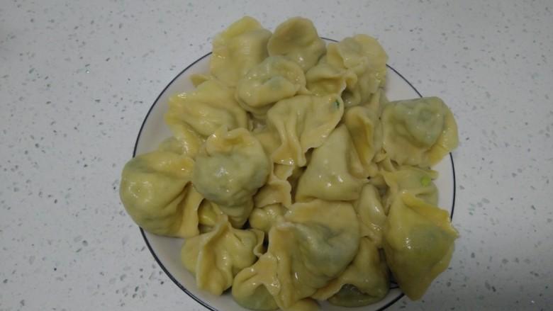南瓜芽苗菜韭菜鸡蛋饺子