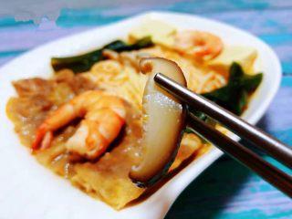 肥羊海虾时蔬面,香菇入口滑嫩鲜美
